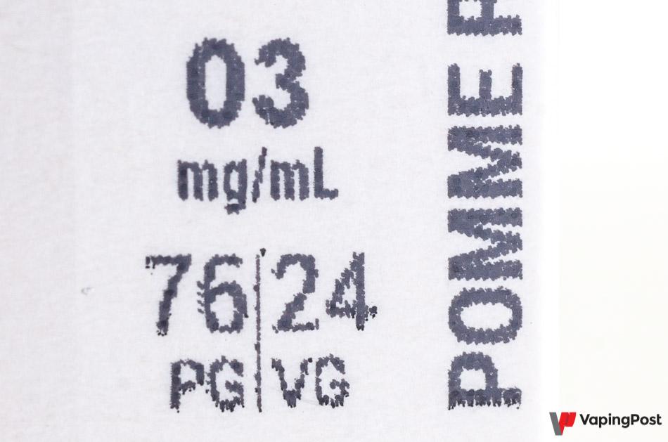 Choisissez un liquide avec moins de 50% de glycérine
