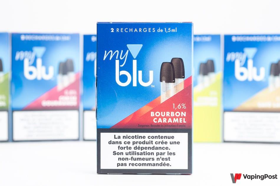 Recharge eliquide Blu Bourbon Caramel