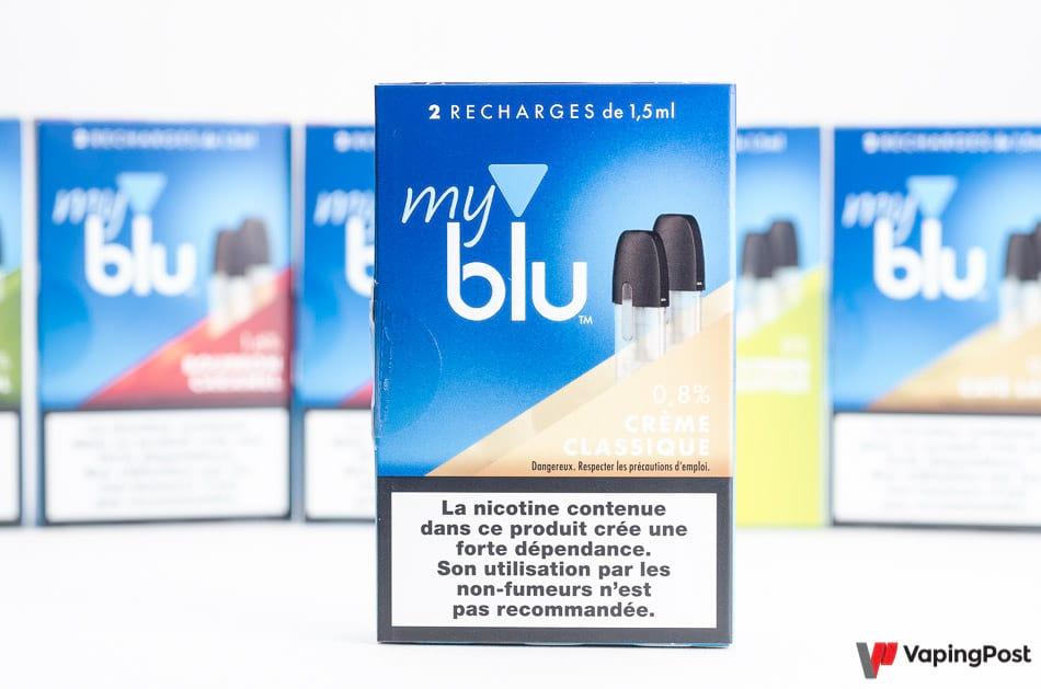 Recharge eliquide Blu creme classique
