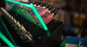 flacons d'e-liquides contenant du PG VG