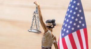 Photo d'un symbole de la justice américaine